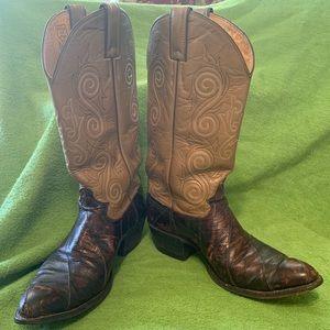 Eel skin Justin boots